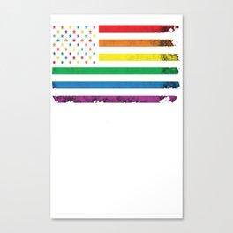 Rainbow American Flag Canvas Print