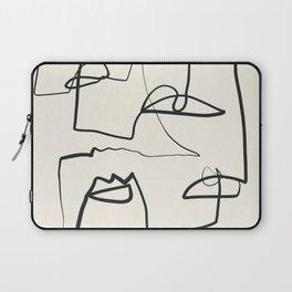 Abstract line art 12 Laptop Sleeve