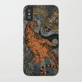 Jiu Jitsu Tiger and Dragon Art, Yin Yang, Martial Arts, Bjj Mma, Japanese iPhone Case