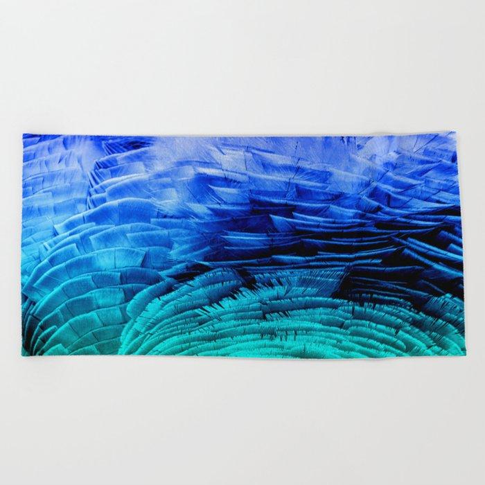 RUFFLED BLUE Beach Towel