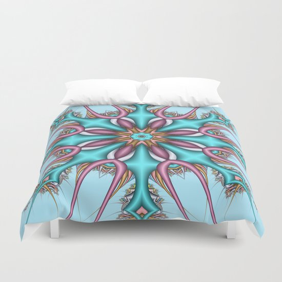 Pastel Pattern Kaleidoscope with optical effects Duvet Cover