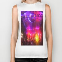 coachella Biker Tanks featuring Midnight City M83 Coachella by The Electric Blve / YenHsiang Liang