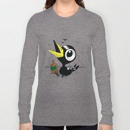 Drinky Crow! Long Sleeve T-shirt