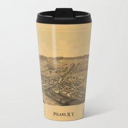 Aerial View of Poland, New York (1890) Travel Mug
