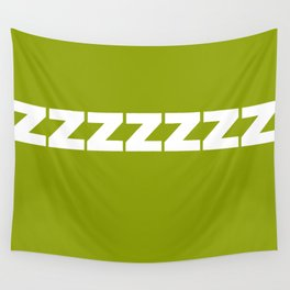 ZZZZZZ On Green Wall Tapestry