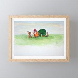 Eye to eye Leprechaun and Rabbit Framed Mini Art Print
