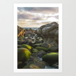 Porth Nanven, Cot Valley 2, Cornwall, England, United Kingdom Art Print