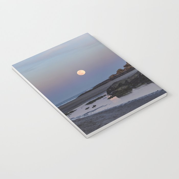 Full moon at Good Harbor Beach Notebook