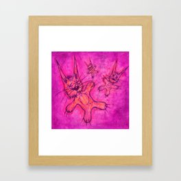 Record Cover for some Jazzed Rabbits, Violetish. Framed Art Print
