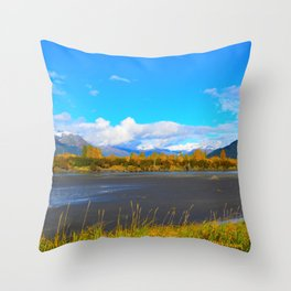Fall at Portage Creek Throw Pillow