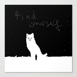 Find Yourself -Fox Spirit Animal Canvas Print