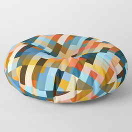 multicolored striped pattern Floor Pillow