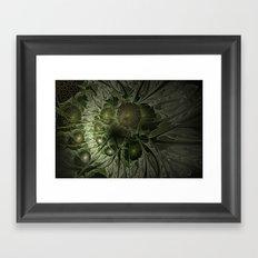 Fractal Moss Framed Art Print