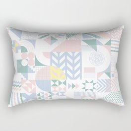Retro Contemporary Geometrical Pattern Rectangular Pillow