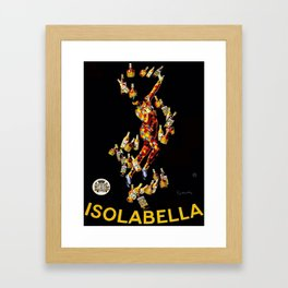Vintage 1920's Leonetto Cappiello  IsolaBella Lithograph Advertising Wall Art Style 1 Framed Art Print