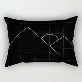 Apex Grid Dark Rectangular Pillow