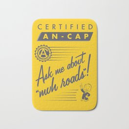 Certified Anarcho-Capitalist Bath Mat