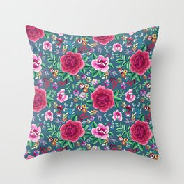 SPANISH ROSE Throw Pillow