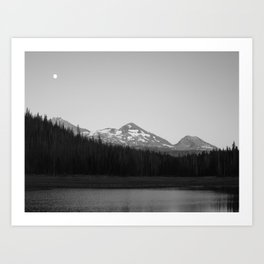 Hiking to Hand Lake in the Willamette National Forest Art Print