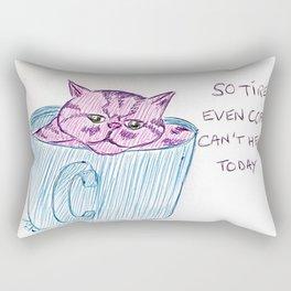 So tired kitten Rectangular Pillow