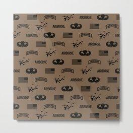Airborne Pattern (Brown) Metal Print