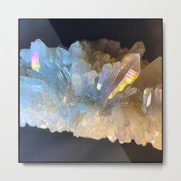 Angel Aura Clear Quartz Crystal Cluster Unicorn Mystical Magical Castle Fantasy Metal Print