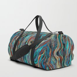 Colorful wavy abstraction Duffle Bag