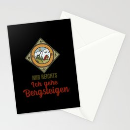 About enough - I go mountaineering Stationery Cards