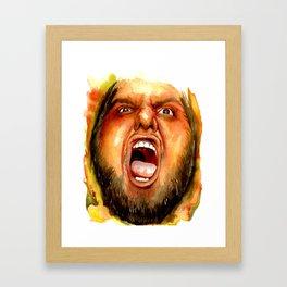 BEAR RAGE Framed Art Print