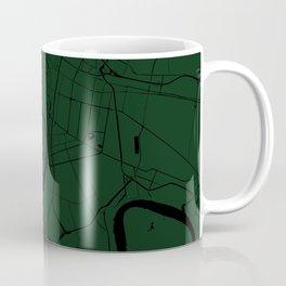 Bangkok Thailand Minimal Street Map - Forest Green and Black Coffee Mug
