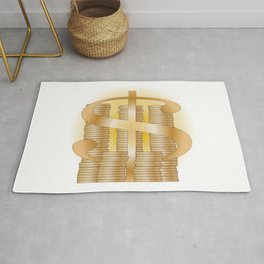 Piles of Coins Rug