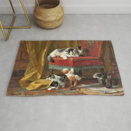 Henriette Ronner-Knip - Mother's Pride - Digital Remastered Edition Rug