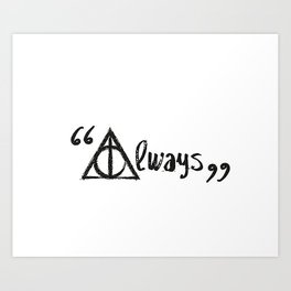 Always Deathly Hallows Art Print