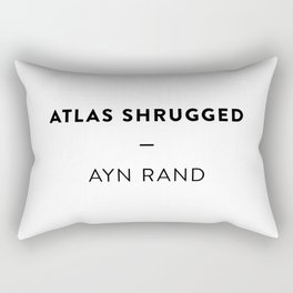 Atlas Shrugged  —  Ayn Rand Rectangular Pillow