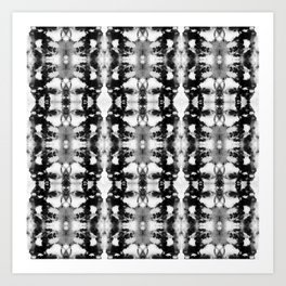 Tie-Dye Blacks & Whites Art Print