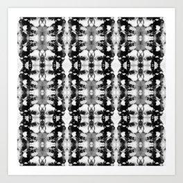 Tie-Dye Blacks & Whites Art Print