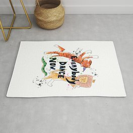 Everybody Dance Now! Lion, Tiger, Snake Jungle Dance Party Rug