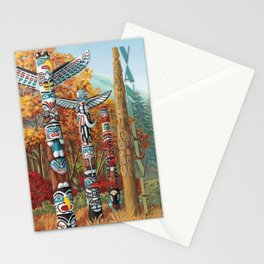 Vancouver Two Worlds Collide Landscape Painting Stationery Cards