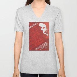 Russia, URSS Vintage, peace Unisex V-Neck