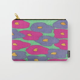 Poppies in Bright Color Carry-All Pouch