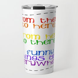 Rainbow Typography Travel Mug