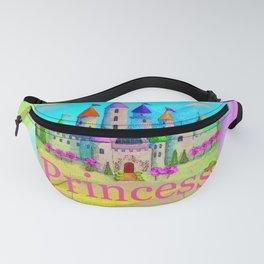 Colorful Princess Castle Fanny Pack