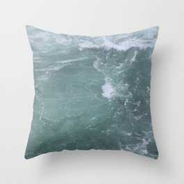 Below Niagra Falls Throw Pillow