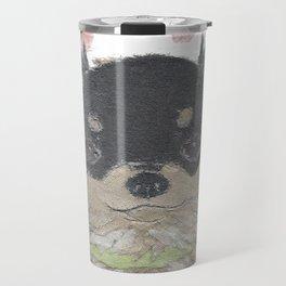 CHIHUAHUA, Long Haired Chihuahua, Dog Travel Mug
