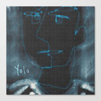 yolo Canvas Prints featuring YOLO by Osome Beamer