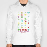 chaos Hoodies featuring Chaos by Slippytee Clothing