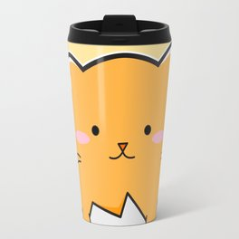 Yellow Cat Egg Travel Mug