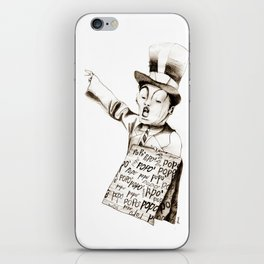 the POPO' paperboy iPhone Skin