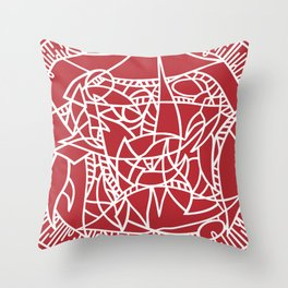 Bushel of Crabs (RED) Throw Pillow