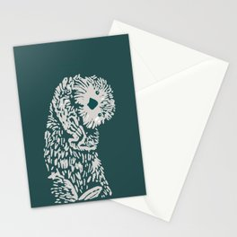 The handsome sea otter Stationery Cards